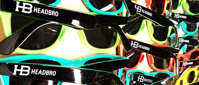 Pad Printed Headbro Sunglasses