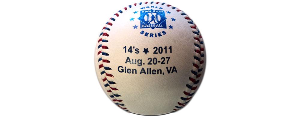 printing baseballs